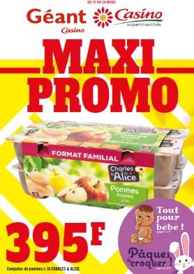 Maxi Promo du  15 au 28 mars 2021