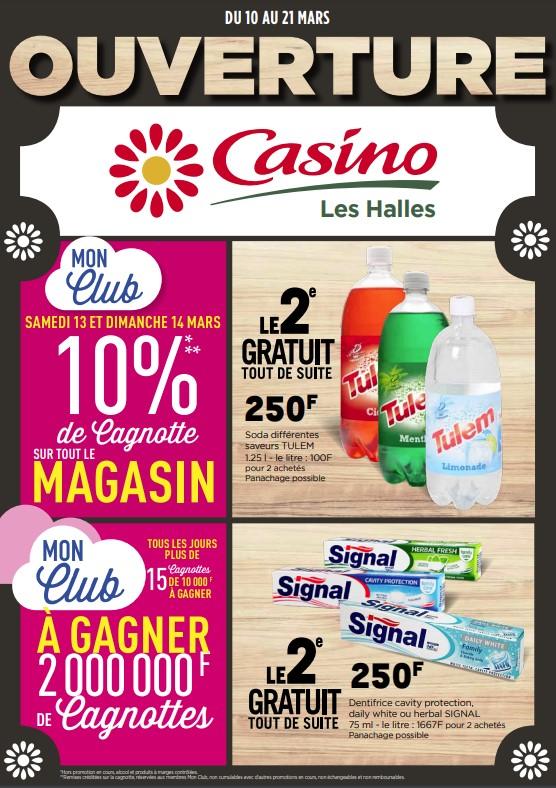 Ouverture du Casino Les Halles du 10 au 21 mars