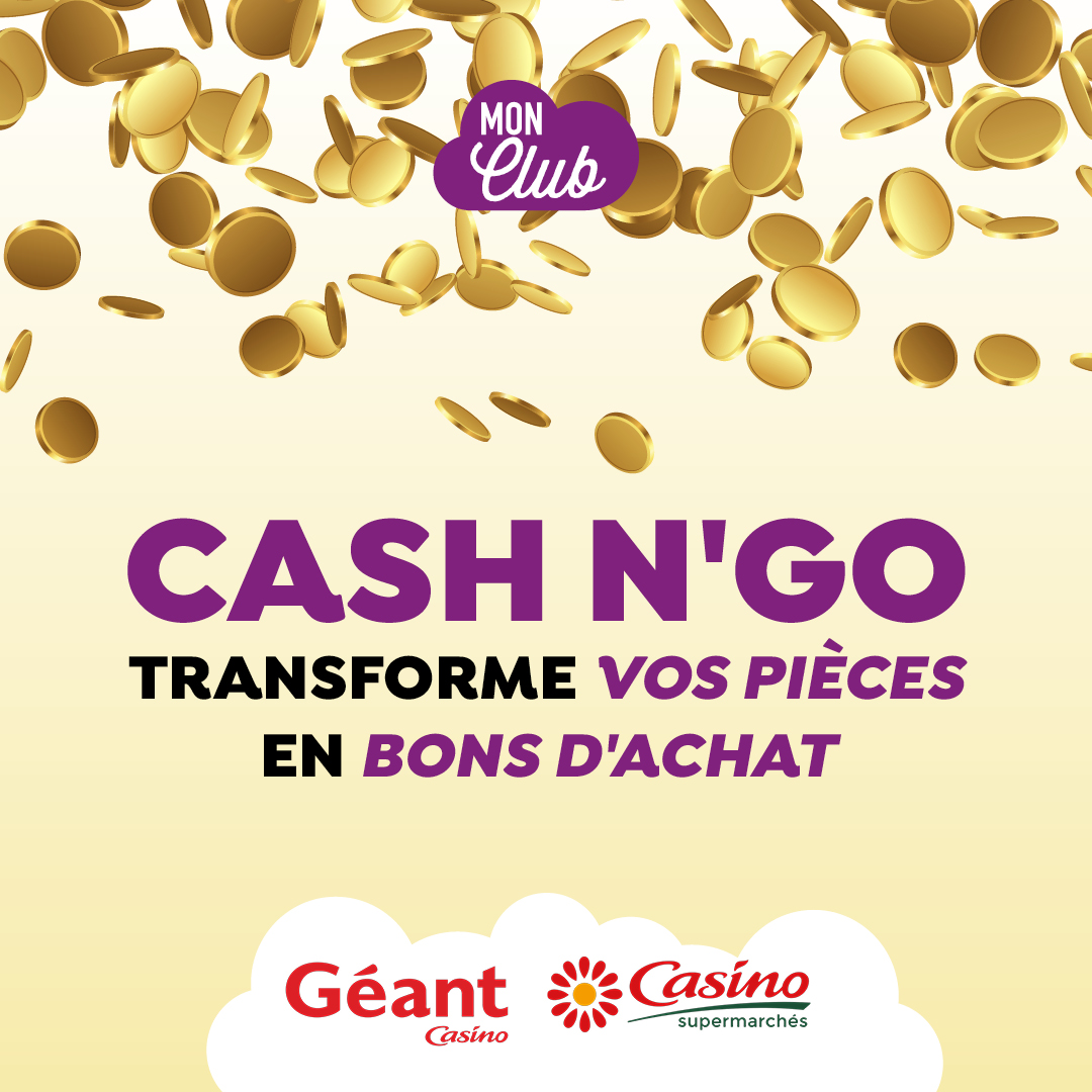 Ne perdez pas vos pièces grâce à Géant Casino !