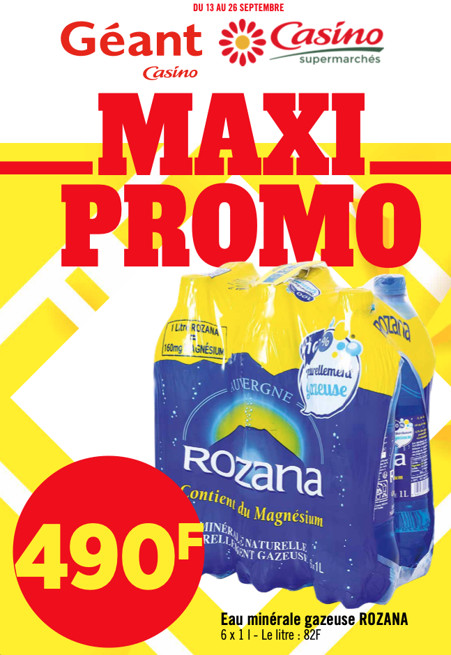 Maxi Promo chez Géant & Casino du 13 au 26 septembre 2021