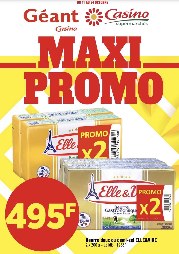 Maxi Promo chez Géant & Casino du 11 au 24 octobre 2021